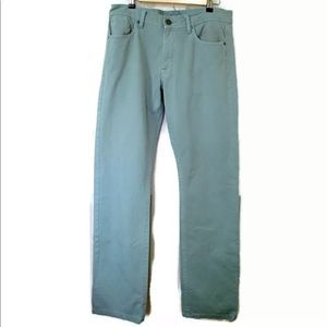 DL1961 Vince Straight Leg Jeans Sea Foam Green